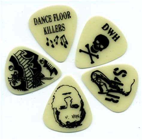 Our Recent Blockbuster Picks by Our New Glow In The Custom Guitar Picks Steve