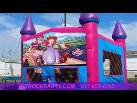 bounce house rental fort worth sofia the first bounce house rental fort worth youtube