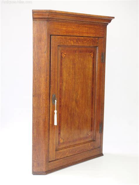 georgian oak corner cupboard hanging wall cabinet