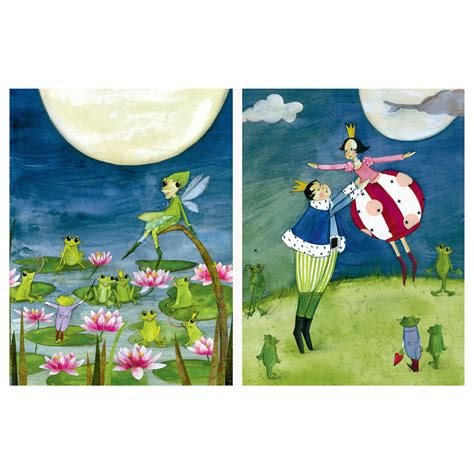 TVILLING Poster, set of 2 The frog prince 30x40 cm   IKEA