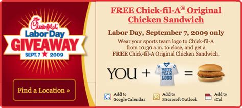 Giveaway Promotion - chick fil a labor day giveaway fail dr k s software ruminations