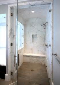 zero entry marble shower home sweet home