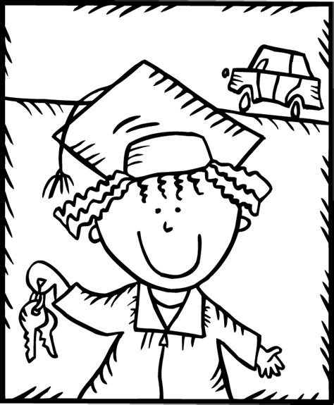 graduation for kindergarten coloring pages