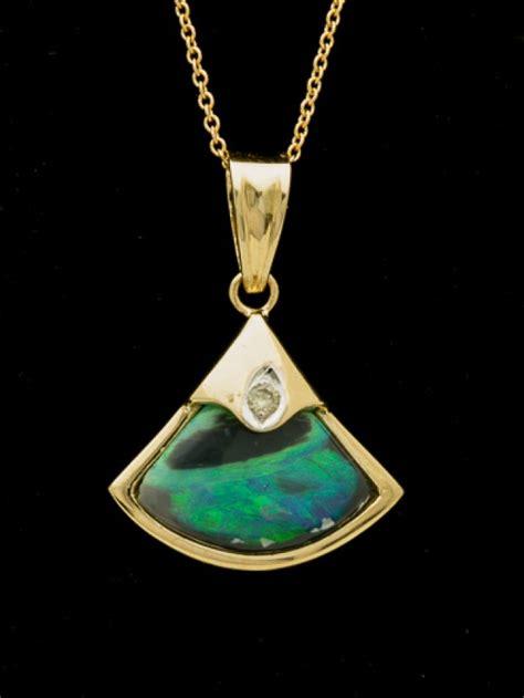 semi black solid opal pendant 3 3ct lp149
