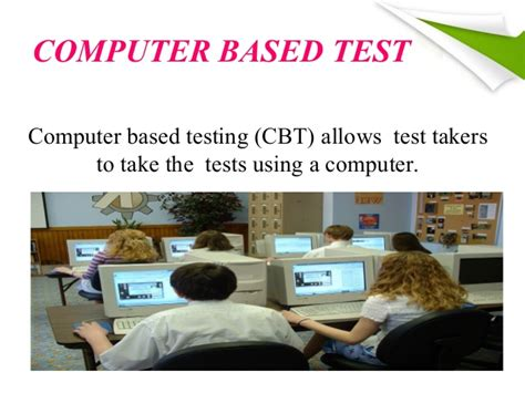 computer based test ppt on cognitive items items types and computer based
