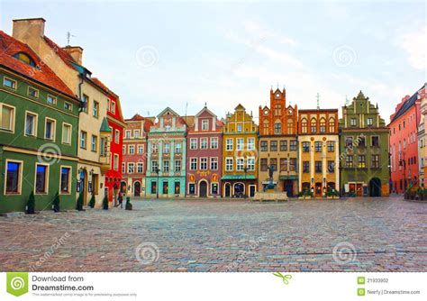 Crooked Houses by Old Square Of Poznan Poland Stock Photography Image
