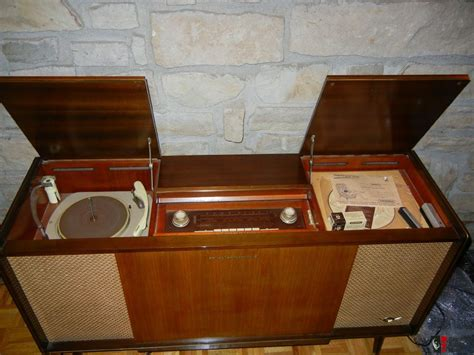 vintage stereo cabinet with turntable vintage antique grundig console stereo tube turntable
