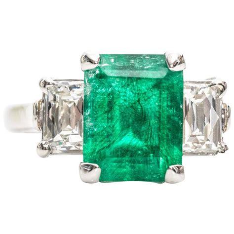 2 10 carat columbian emerald and tycoon platinum