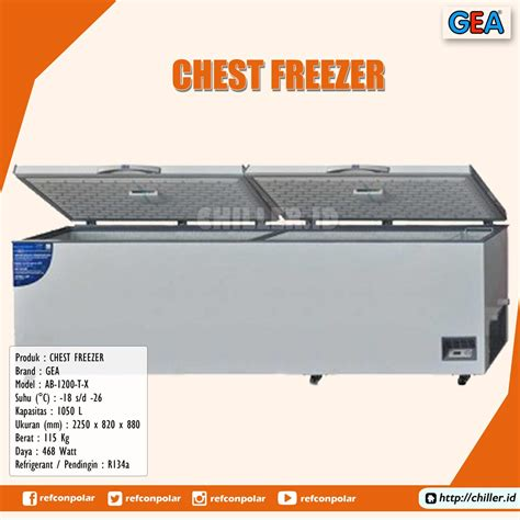 Chest Freezer Ab 600 T X jual ab 1200 t x chest freezer gea harga murah di