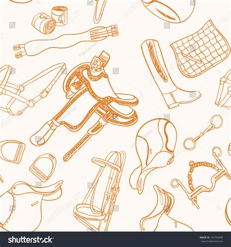 pattern for riding stock detailed seamless horseback riding essentials pattern