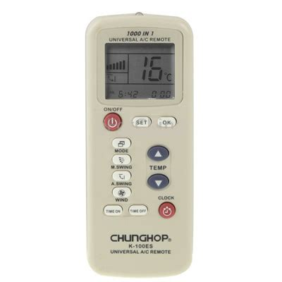 Chunghop Universal Ac Remote Controller K 2012e chunghop universal ac remote controller k 100es white jakartanotebook