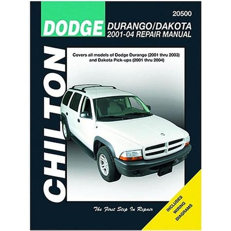 what is the best auto repair manual 2001 chrysler voyager electronic toll collection chilton 20500 repair manual 2001 04 dodge durango dakota northern auto parts