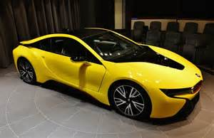 Yellow Bmw Yellow Bmw I8 Shows Up In Abu Dhabi