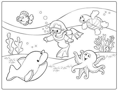 ocean floor pages coloring pages