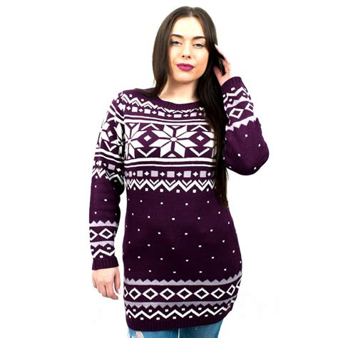 christmas pattern jumpers c3101 by ladies christmas jumper with snowflake pattern