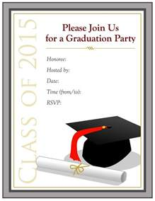free high graduation party invitation templates