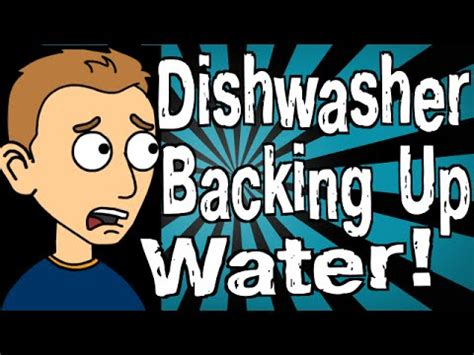 water backing up in my dishwasher is backing up with water youtube