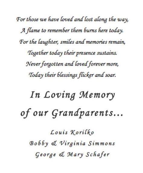 memory poem template memorial candle poem ashleys wedding