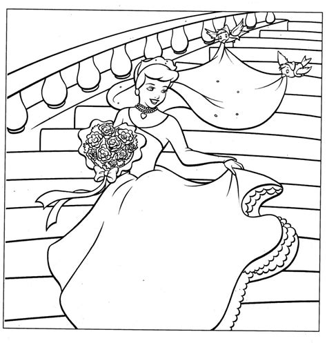 ariel wedding coloring pages coloring pages