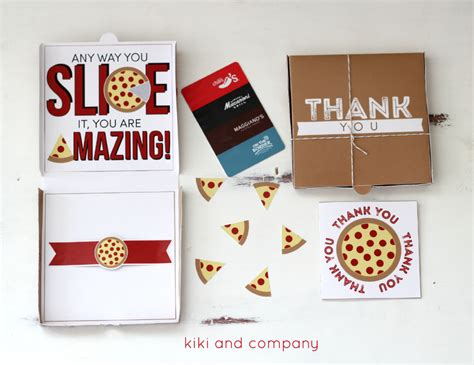 printable pizza gift cards teacher appreciation pizza box card with kiki and company