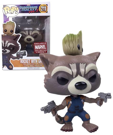 Funko Pop Marvel Groot funko pop rocket with groot marvel collector corps 211 exclusive mint gotg ebay