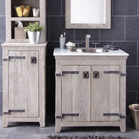 Bathroom Cabinets Wood Americana Rustic Bathroom Vanity Cabinets Driftwood Trails