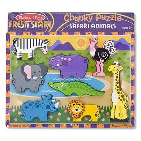 Chunky Puzzle Animal C 8 pc doug safari chunky puzzle from who what why