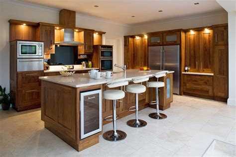 Kitchen Island Maple by Shaker Walnut Kitchens Hogan Kitchens