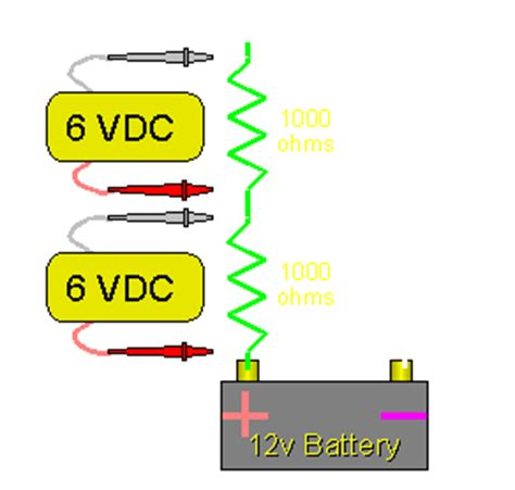 the voltage drop across the 6 ohm resistor is most nearly resistors