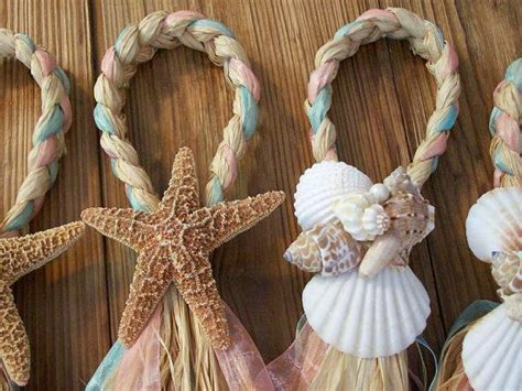Beach Aisle Decorations, Beach Pew Bows, Starfish And