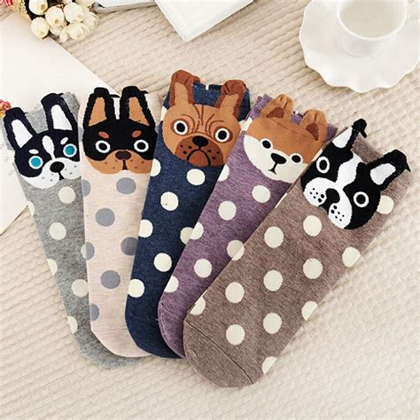 Dogs Series Socks s socks small ear animal series lovely dogs cats gift new fashion