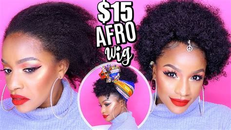 realistic drawstring afro puff jumbo get this look for 15 how to slay a cheap synthetic afro