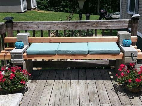 bench made from cinder blocks cinder block bench cinder block backyard