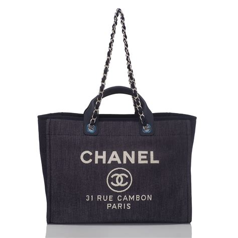 Chanel Deauville Shopping Tote Bags 972 chanel blue denim large deauville shopping tote bag world s best