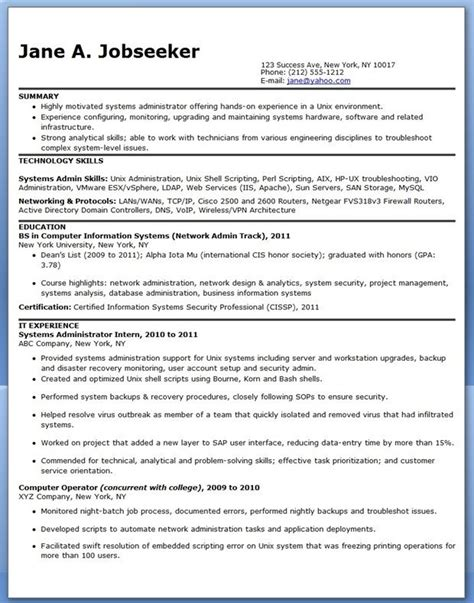 System Administrator Resume Templates by 336 Best Images About Creative Resume Design Templates Word On Engineering Entry