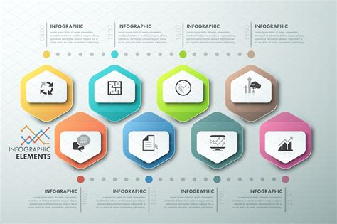 modern infographic process template presentation