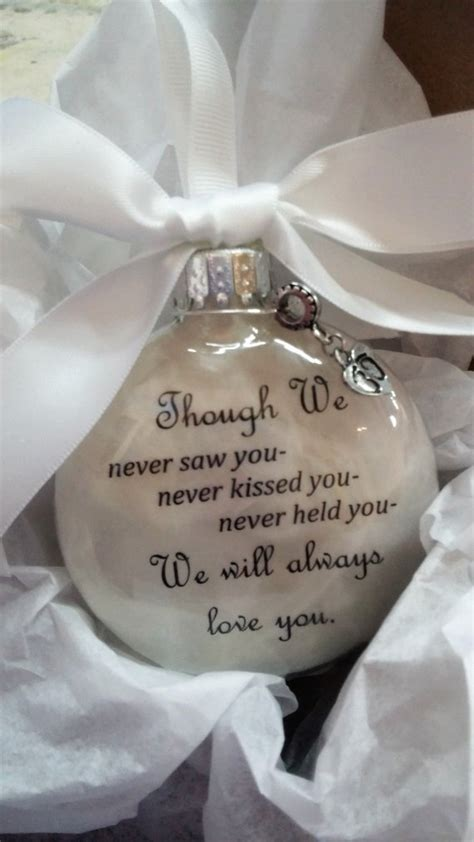 baby loss and christmas miscarriage infant loss ornament w footprint charm