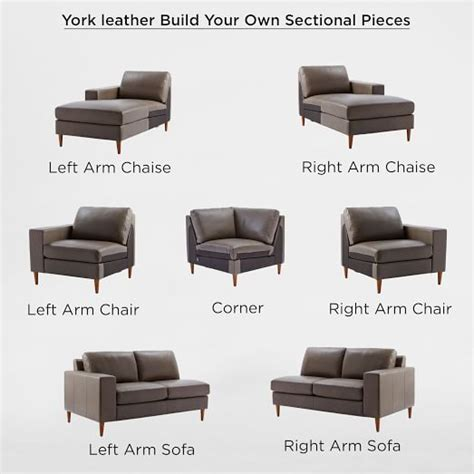 Build Your Own Sectionals by Build Your Own York Leather Sectional Pieces West Elm