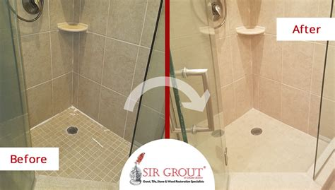 Bathroom Showers Massachusetts Thorough Grout Sealing Restores Porcelain Tile Bathroom In