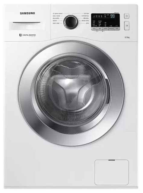 samsung ww65m206l0w tl 6 5 kg fully automatic front load washing machine white rs 26 999