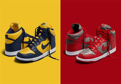unlv colors nike dunk high michigan unlv colorways the rap