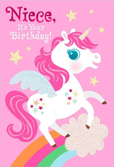 printable birthday cards unicorn unicorn birthday card for niece greeting cards hallmark