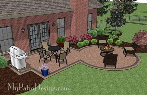 Patio Designs Rectangular Rectangle Patio Design With Circle Pit Area 395 Sq