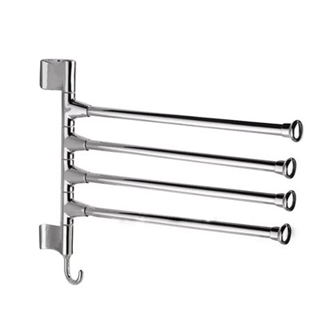 kitchen towel rack swing arm wall mounted swing 4 arm kitchen towel rack stainless