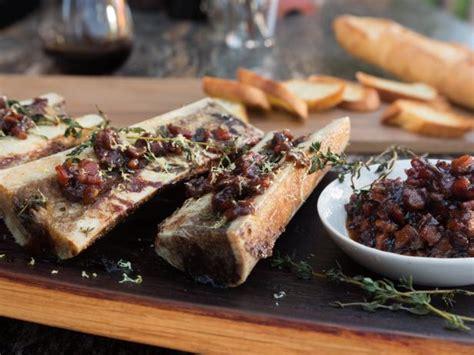 Aus Beef Bone Marrow bone marrow with bacon marmalade and sourdough toast recipe fieri food network