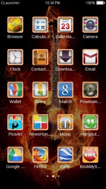 themes clauncher fire guitar clauncher theme hd android apps on google play