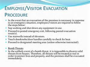 Emergency Procedures In The Workplace Template by Emergency Response Planning
