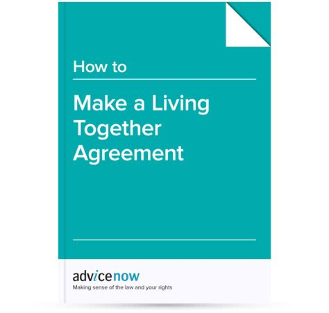 living together agreement template how to make a living together agreement advicenow