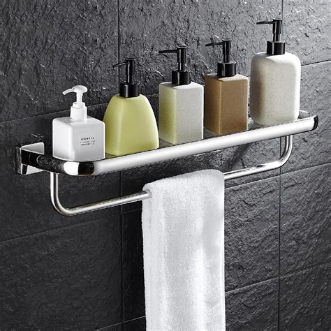chrome and glass bathroom shelves wall mounted bathroom