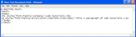 html font size and color how to learn html style font color and size web tutorials